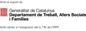 Logotip Generalitat Departament de Trebball IRPF